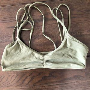 Aerie olive green bikini top - medium